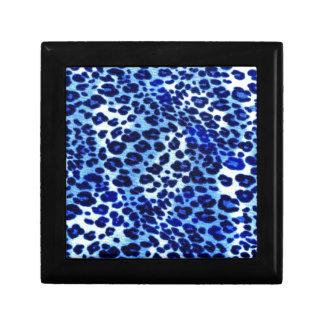Arte azul del safari caja de regalo