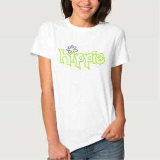Arte blanco gráfico de la palabra de la verde lima camisetas