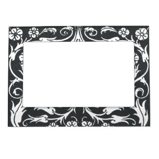 Arte blanco negro Nouveau de Beardsley Marcos Magnéticos
