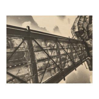 Arte blanco y negro de madera de la fotografía del