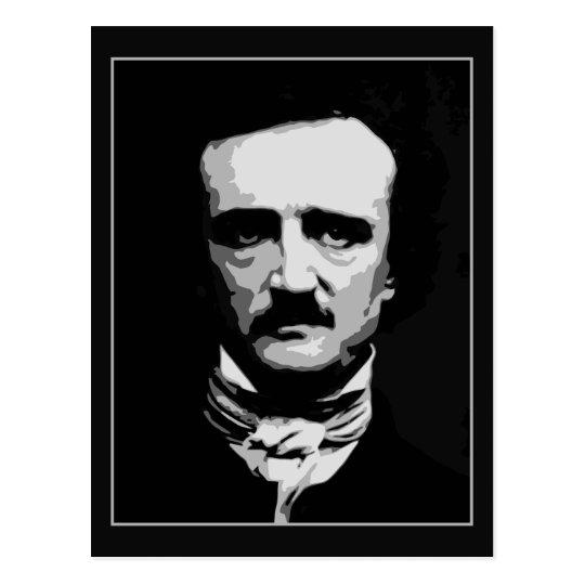 Arte blanco y negro del vector, Edgar Allan Poe Postal