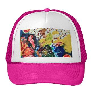 Arte bohemio artsy, abstracto gorra