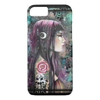 Arte bohemio gótico de la fantasía del chica del funda iPhone 7
