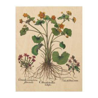 Arte botánico del arte de madera de la pared de