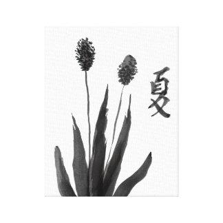 Arte chino de las letras de la hierba del verano lienzo envuelto para galerías