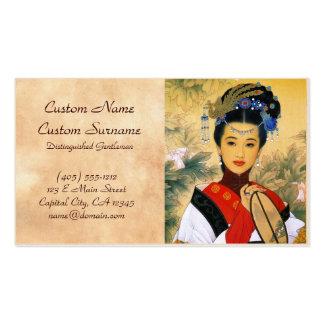 Arte chino hermoso joven fresco de princesa Guo Ji Tarjeta De Visita