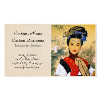Arte chino hermoso joven fresco de princesa Guo Tarjetas De Visita