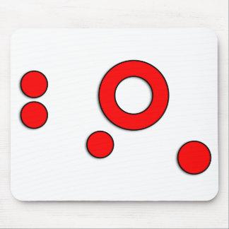 """Arte """"círculos"""" del vector (rojo) alfombrilla de raton"""