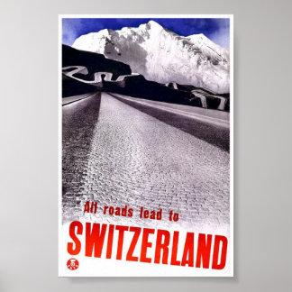 Arte clásico del poster del viaje del vintage de
