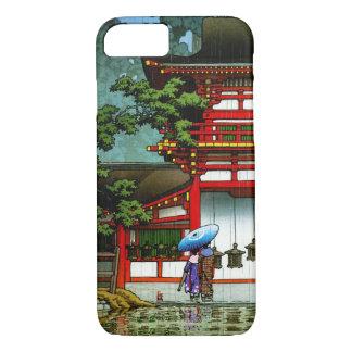Arte clásico japonés oriental fresco de la lluvia funda iPhone 7