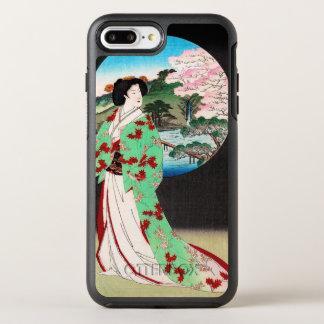 Arte clásico japonés oriental fresco de la señora funda OtterBox symmetry para iPhone 7 plus