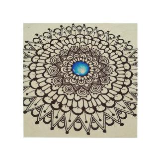 Arte colgante de la mandala de madera original