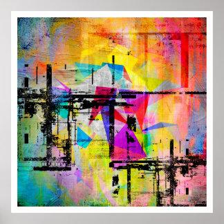 Arte colorido abstracto geométrico moderno