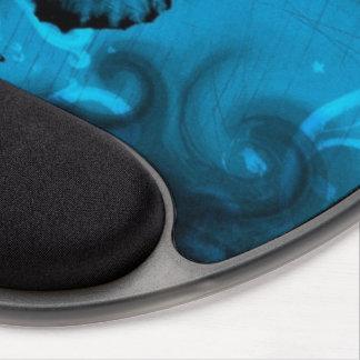 arte colorido azul del vector de la mariposa alfombrillas de raton con gel