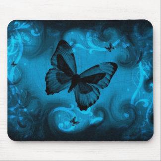 arte colorido azul del vector de la mariposa alfombrilla de ratón