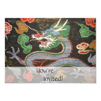 Arte colorido brillante de la fantasía del dragón invitación 12,7 x 17,8 cm
