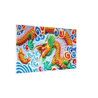 Arte colorido chino de la pared