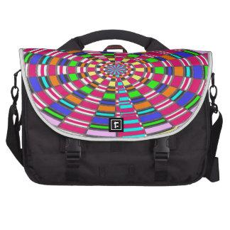ARTE colorido circular redondo del círculo de la Bolsas Para Portátil