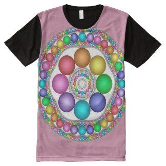Arte colorido de la mandala del alcohol de Pascua Camiseta Con Estampado Integral