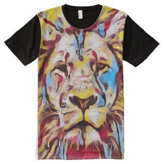 Arte colorido de la pintura de la fantasía del camisetas con estampado integral