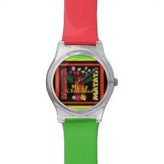Arte colorido del diseño del modelo de las Felices Reloj De Pulsera