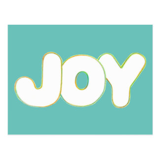 Arte colorido del esquema - alegría - redacte las tarjeta postal