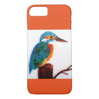 Arte colorido del martín pescador funda iPhone 7