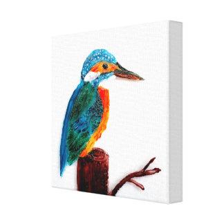 Arte colorido del pájaro del martín pescador