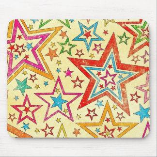 arte colorido del vector de las estrellas tapetes de ratón