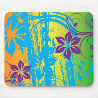 arte colorido del vector de las flores alfombrilla de ratones