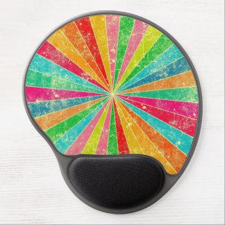 arte colorido del vector del arco iris alfombrillas de ratón con gel