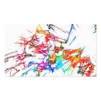 Arte colorido plantilla de tarjeta personal