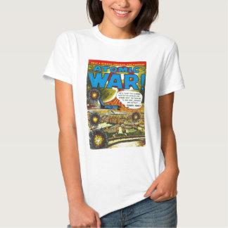 Arte cómico de la cubierta de la guerra atómica camiseta