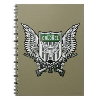 Arte con alas bandera del tatuaje del escudo del cuadernos