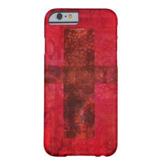 Arte cristiano contemporáneo CRUZADO Funda De iPhone 6 Barely There