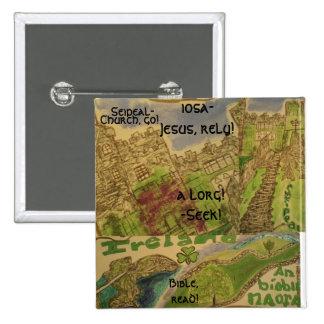 Arte/cristiano/englis de Gaeilge/Cnaipe/button Chapa Cuadrada 5 Cm
