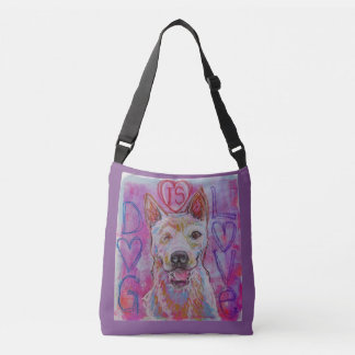 Arte cruzado del amante del perro de la bolsa de