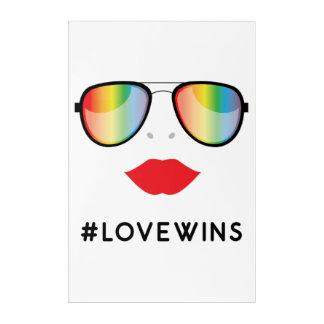 Arte de acrílico de la pared del #LOVEWINS