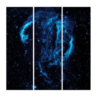 Arte de acrílico del tríptico de la nebulosa de la