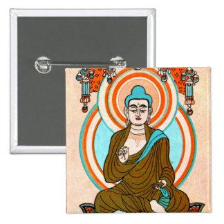 Arte de Buda del vintage Chapa Cuadrada 5 Cm