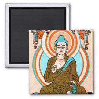 Arte de Buda del vintage Imán De Frigorífico