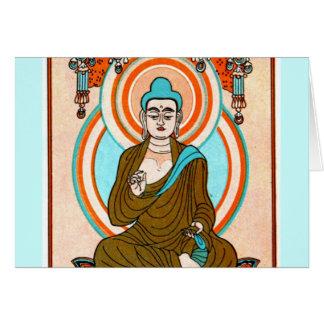 Arte de Buda del vintage Felicitacion