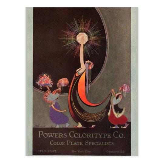 Arte de Coloritype Co. de los poderes en tarjetas
