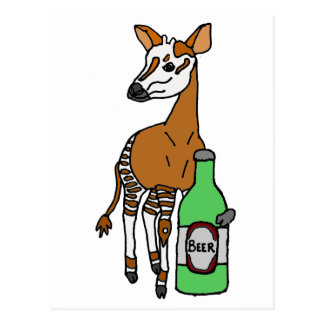 Arte de consumición de la cerveza del Okapi Postal