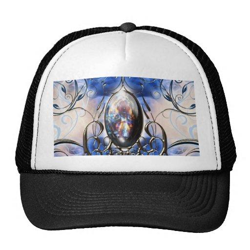 Arte de cristal azul adornado de lujo del gorro