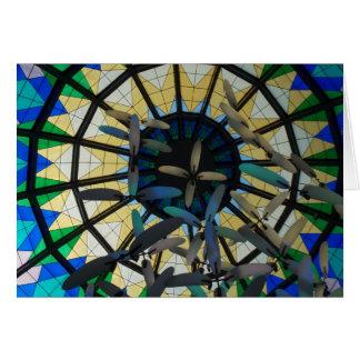 Arte de cristal en la alameda UAE del puerto Tarjeta
