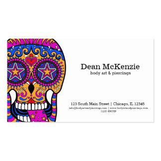 Arte de cuerpo del cráneo del azúcar tarjetas de visita