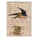 Arte de Digitaces del pájaro del vintage y del pap Tarjetas