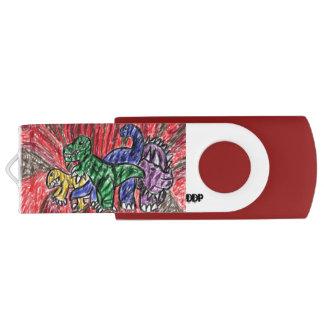 Arte de Dino Memoria USB