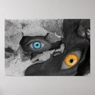 Arte de dos Multi-medios de los ojos